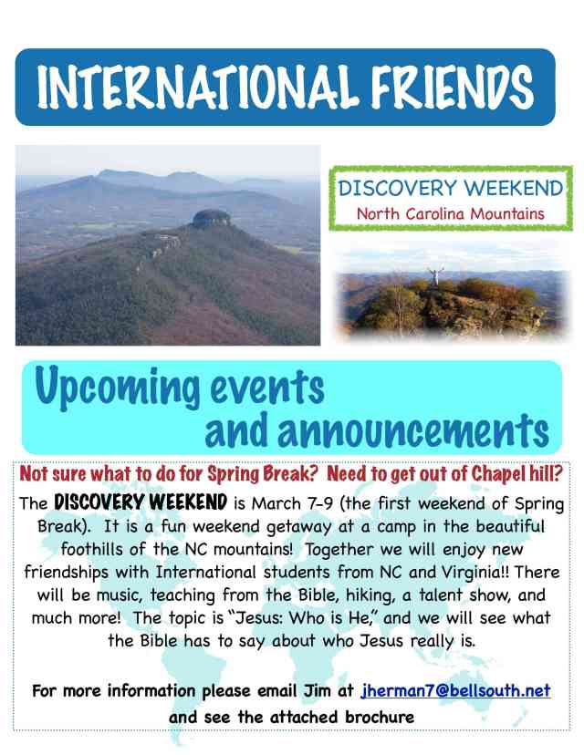 Spring break - Discovery Weekend!