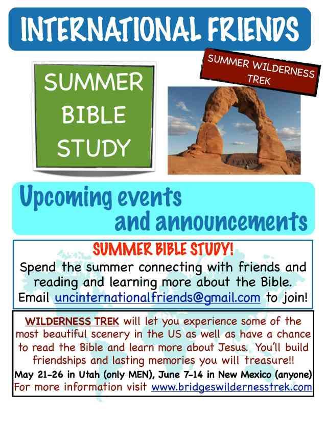 Summer opportunities with International Friends!